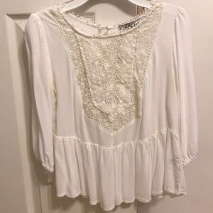 White Blouse with Neck Lace